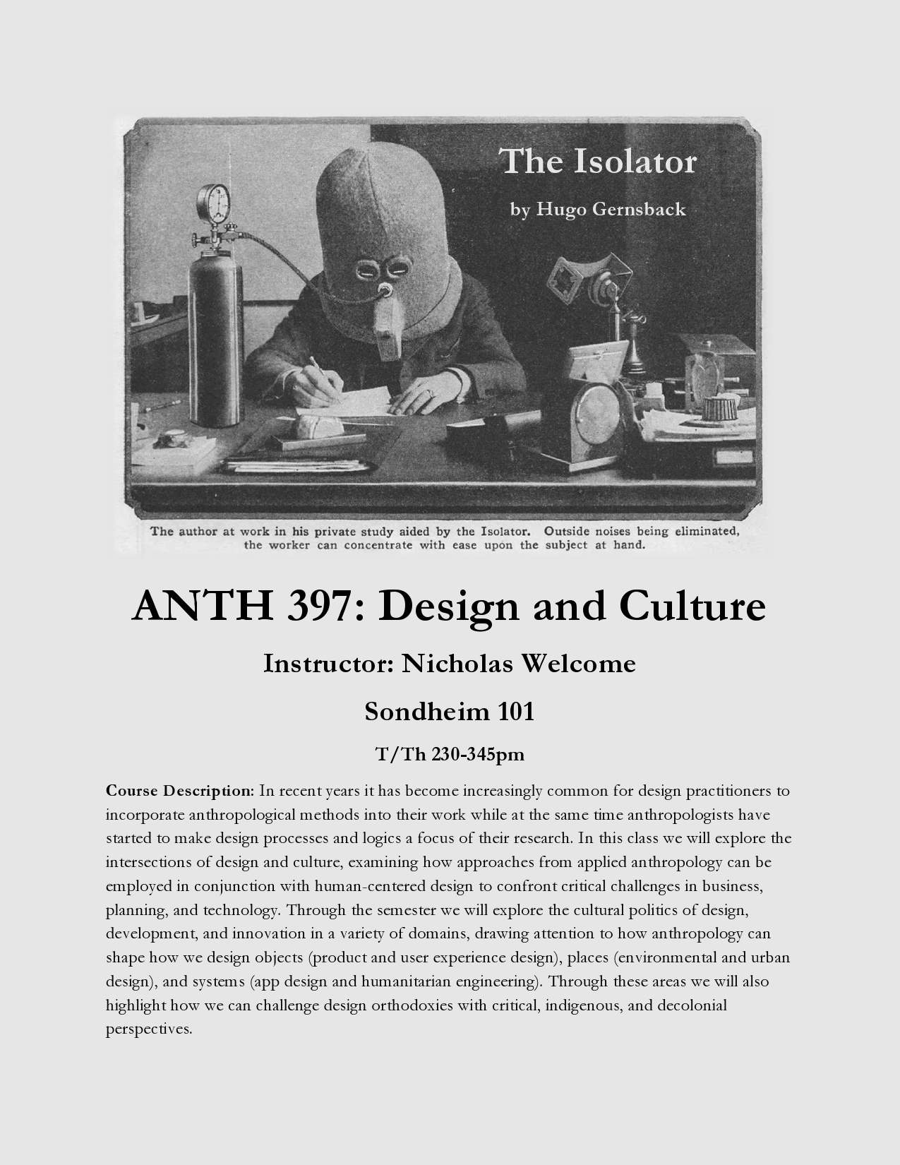 Register for ANTH 397 for Fall 2020!