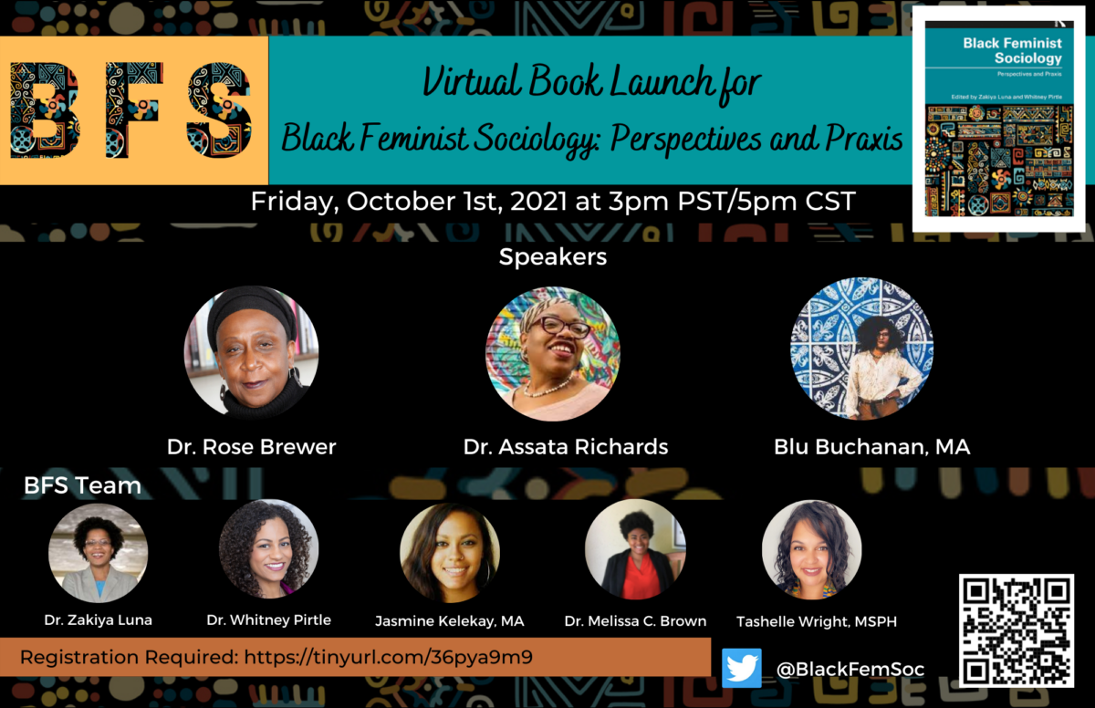 Join the virtual launch for Black Feminist Sociology: Perspectives and Praxis